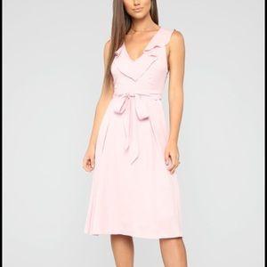 NWOT Fashion Nova Pink Midi Dress